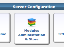 Modules Administration Store