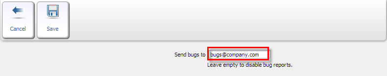 Bug Reports Receiving Address